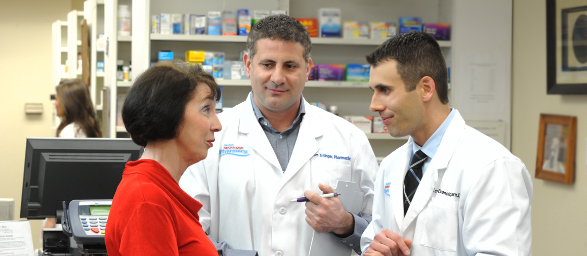 Patient consultations at Kevin's Pharmacy